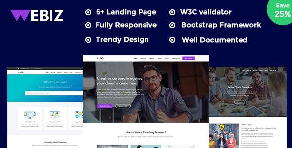 Webiz - Creative Digital Agency & Multipurpose Template - Business Corporate