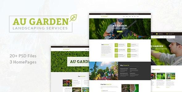 Au Garden - Landscaping & Gardening PSD Template - Business Corporate