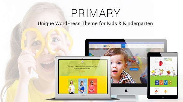 Primary -  Kids and School WordPress Theme | Education Material Design WP - Education WordPress