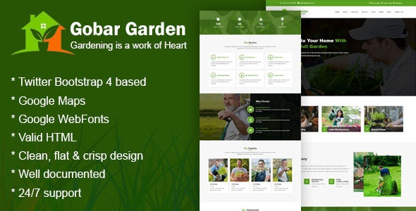 Gobar Garden - Gardening and Landscaping Responsive HTML5 Template - Business Corporate