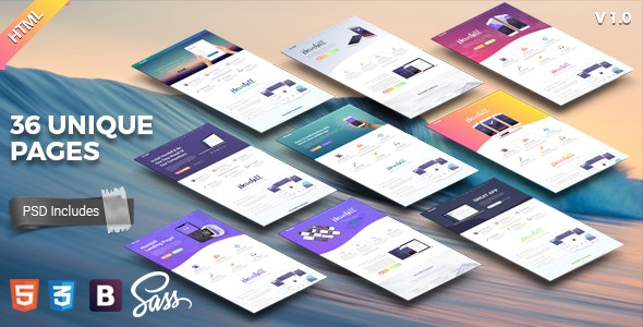 Hornbill || Responsive App Landing Page - Technology Site Templates