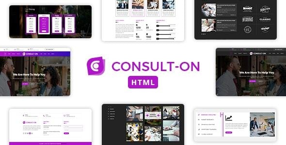 Consulton One Page Business Consulting Corporate Html Template - Corporate Site Templates