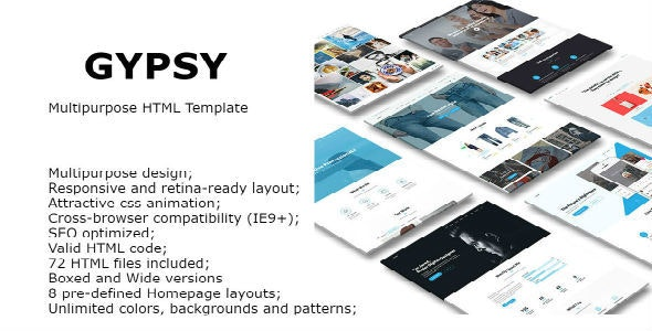 Gypsy - Multipurpose HTML Template - Site Templates