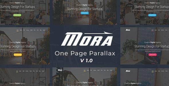 Mora- One Page Parallax - Creative Site Templates