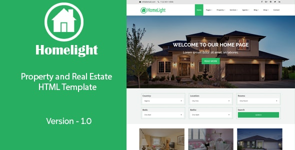 Homelight - Property and Real Estate HTML Template - Business Corporate