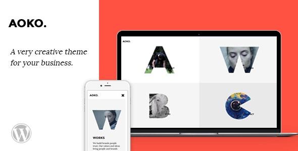 Aoko - Creative WordPress Theme - Portfolio Creative