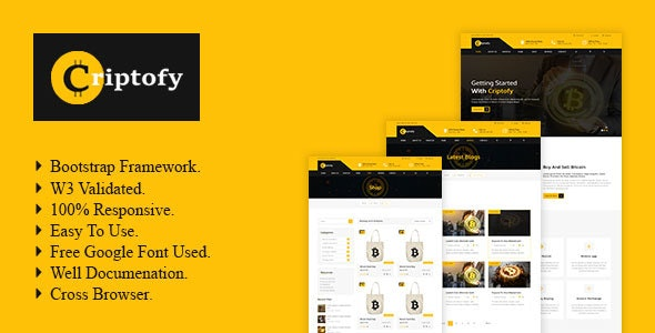 Criptofy - Crypto Currency HTML Template. - Business Corporate