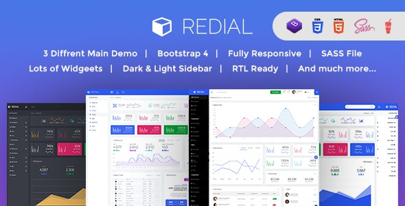 Redial - Bootstrap 4  Admin/Dashboard Template - Admin Templates Site Templates