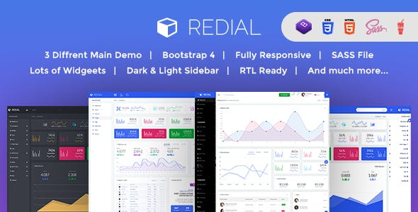 Redial - Bootstrap 4  Admin/Dashboard Template