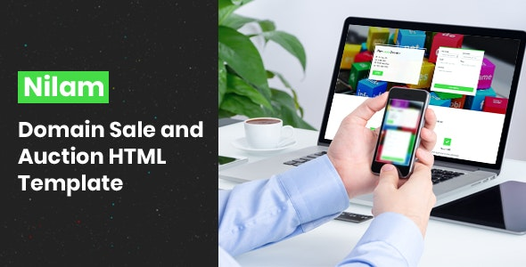 Nilam - Domain Sale and Auction HTML Template - Hosting Technology