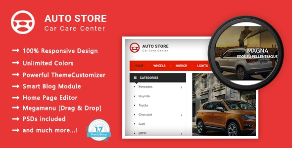 Auto Store - Carparts Responsive PrestaShop 1.7 Theme - Shopping PrestaShop