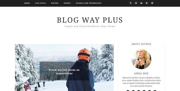Blog Way Plus - Responsive Blog Theme