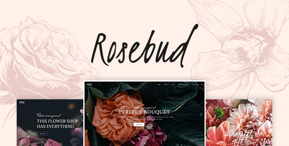 Rosebud - Flower Shop and Florist WordPress Theme - Retail WordPress