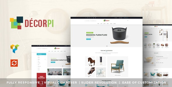 DecorPi - Responsive Multipurpose WordPress WooCommerce Theme - WooCommerce eCommerce