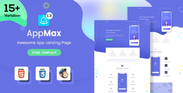 Awesome App Landing Page - AppMax - Technology Landing Pages