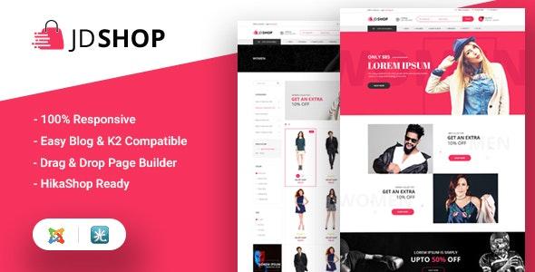 JD Shop - Advanced Hikashop Joomla eCommerce Template - Joomla CMS Themes