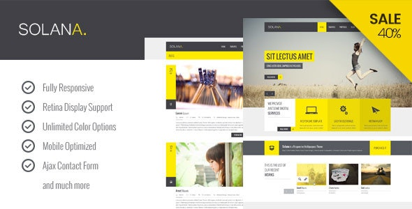 Solana - Responsive HTML5 Template - Corporate Site Templates