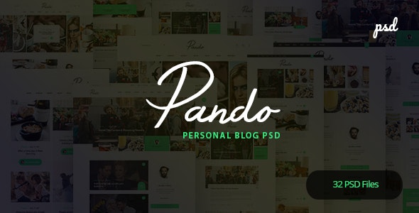 Pando - Personal Blog PSD Template - Personal Photoshop