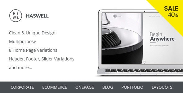 Haswell – Multipurpose PSD Template - Corporate Photoshop