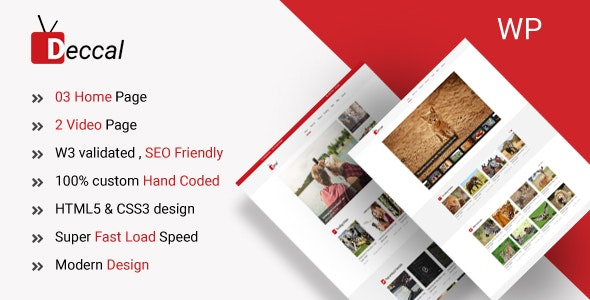 Deccal - Video Blogging WordPress Theme - Film & TV Entertainment