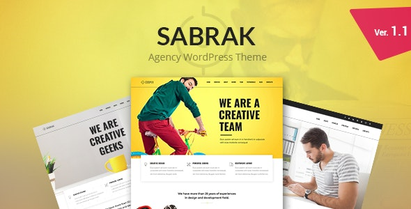 Sabrak - Agency WordPress Theme - Business Corporate
