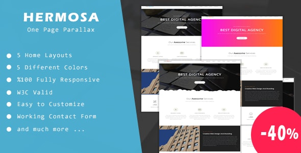 Hermosa - One Page Parallax - Site Templates