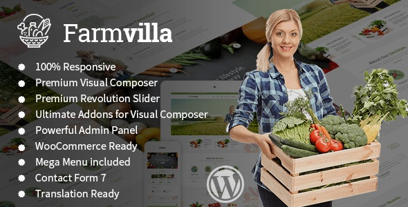 Farmvilla - Organic Food WordPress Theme - Food Retail
