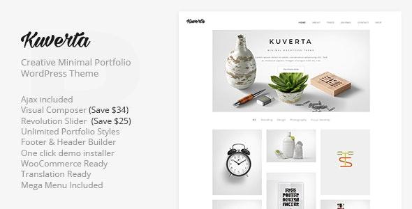 Kuverta - Minimal Portfolio WordPress Theme - Portfolio Creative
