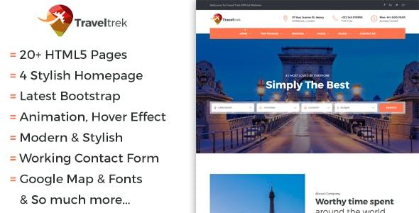 Traveltrek - Travel Agency & Tour Booking HTML5 Template