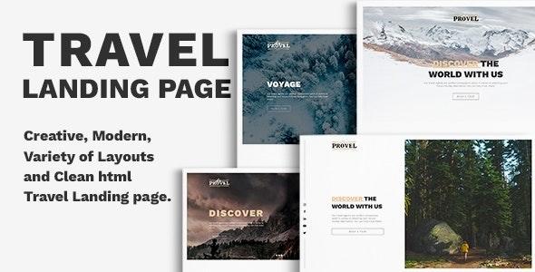 Provel - Travel Responsive Landing page - Travel Retail