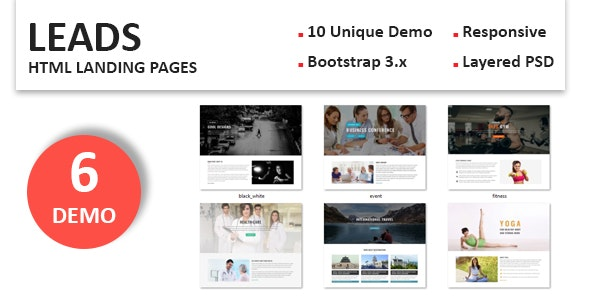 Leads - Multipurpose Responsive Landing Pages - Landing Pages Marketing
