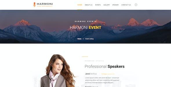 Harmoni - Event Management PSD Template