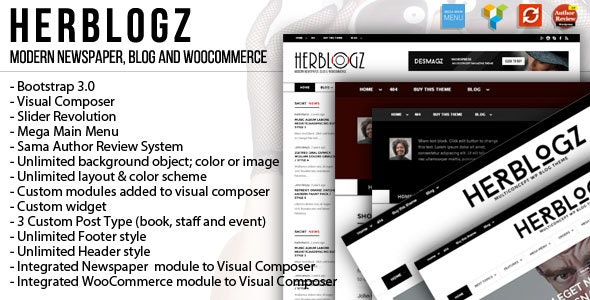 HerBlogz - Clean WP Multiconcept Magazine Theme - Blog / Magazine WordPress