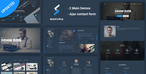 Sakura - Resume, CV, Portfolio,  vCard - Resume / CV Specialty Pages