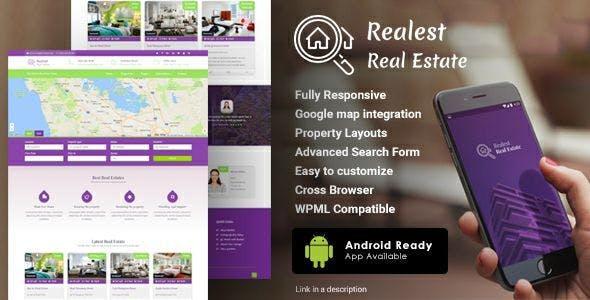 Realest – Real Estate WordPress Theme