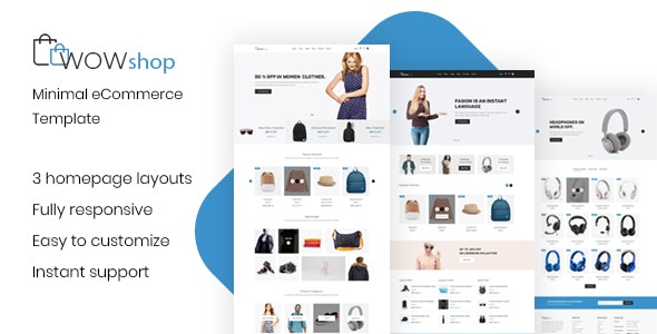WowShop - Minimal eCommerce HTML Template - Shopping Retail