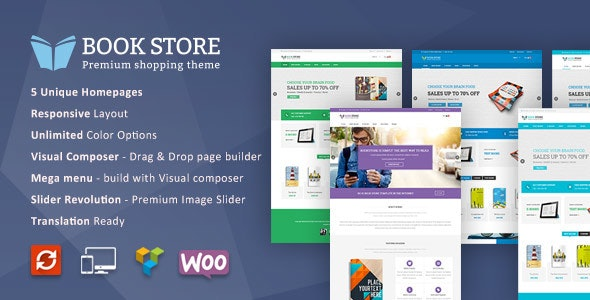 Book Store WordPress WooCommerce Theme - WooCommerce eCommerce