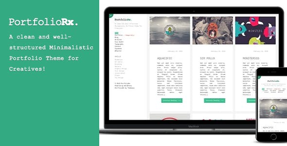 PortfolioRx - A clean and well-structured Minimalistic Portfolio Theme for Creatives!
