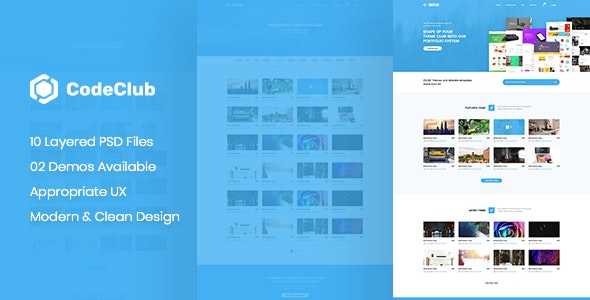 CodeClub - Digital Product Showcase PSD Template - Technology Photoshop