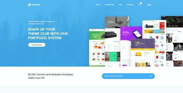 CodeClub - Digital Product Showcase PSD Template
