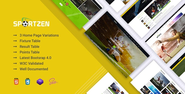 Sportzen - Sports club & magazine HTML template - Events Entertainment