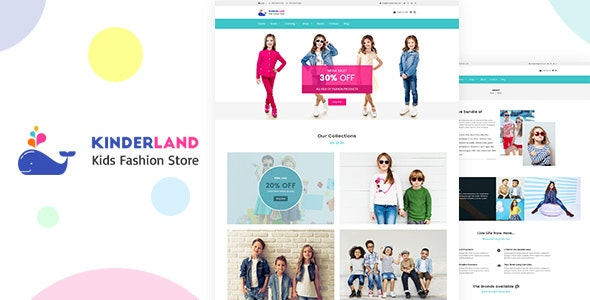 Kinder land - Kids Fashion Store Shopify Theme by designthemes