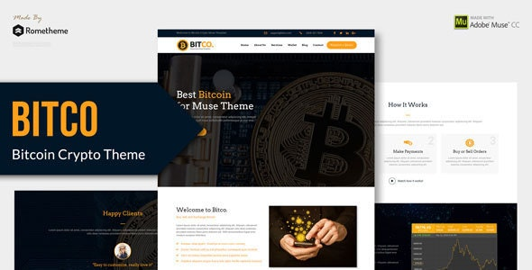 Bitco - Bitcoin and Cryptocurrency Muse Template - Muse Templates