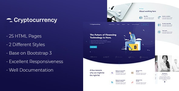 CryptoCurrency - HTML Template - Corporate Site Templates