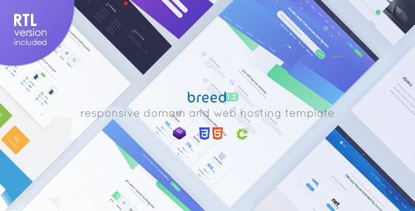 Breed - WHMCS & HTML Web Hosting Template - Hosting Technology
