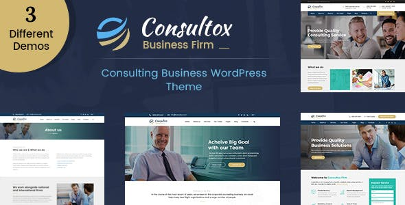 Consultox - Consulting Business WordPress Theme