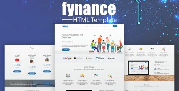 Fynance   Online Finance HTML5 Template - Business Corporate