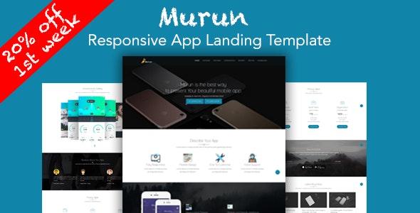 Murun - Responsive App Landing Page Template - Apps Technology