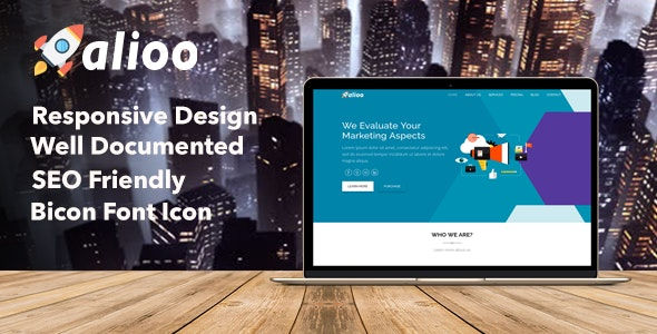 Alioo - SEO Marketing HTML Template - Marketing Corporate