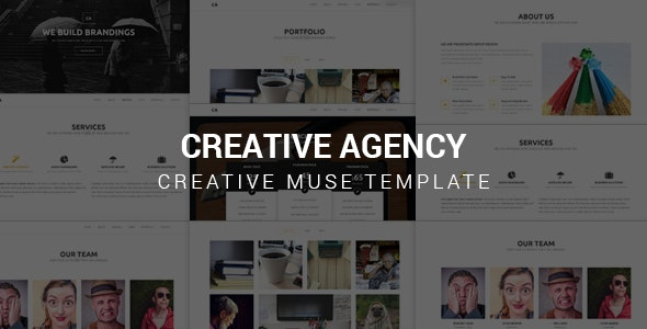Creative Agency - Muse Template - Corporate Muse Templates